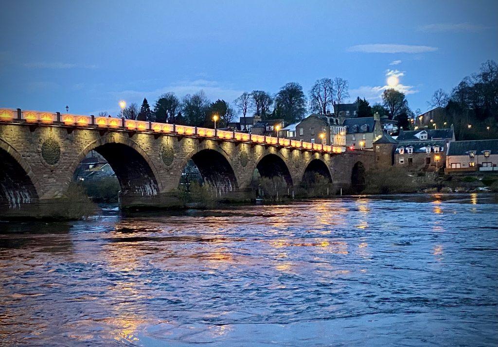 Old bridge over River Tay at Perth