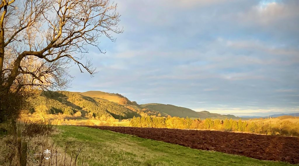 Early morning sun on Perthshire hills